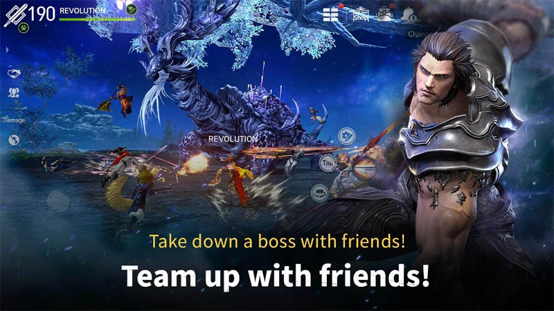 Blade and Soul REVOLUTION - Take down boss with friends Team Up With Friends