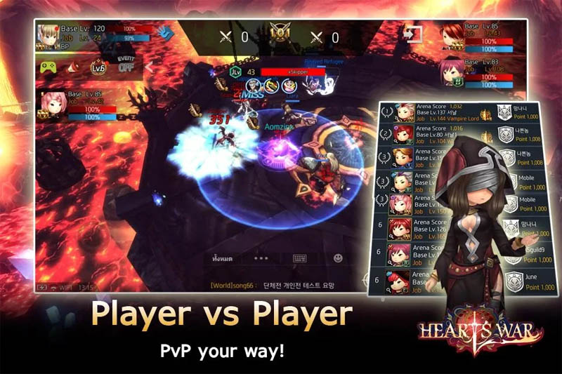 HeartsWar - Player vs Player PVP your way