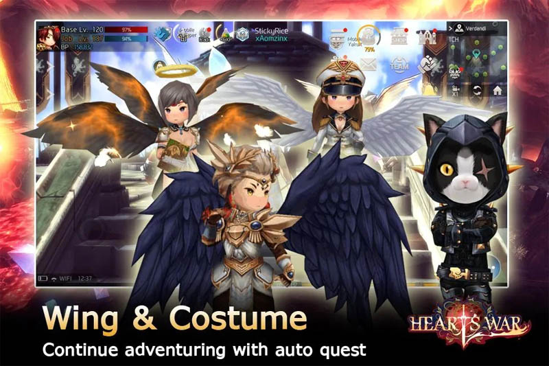 HeartsWar - Wing and Costume