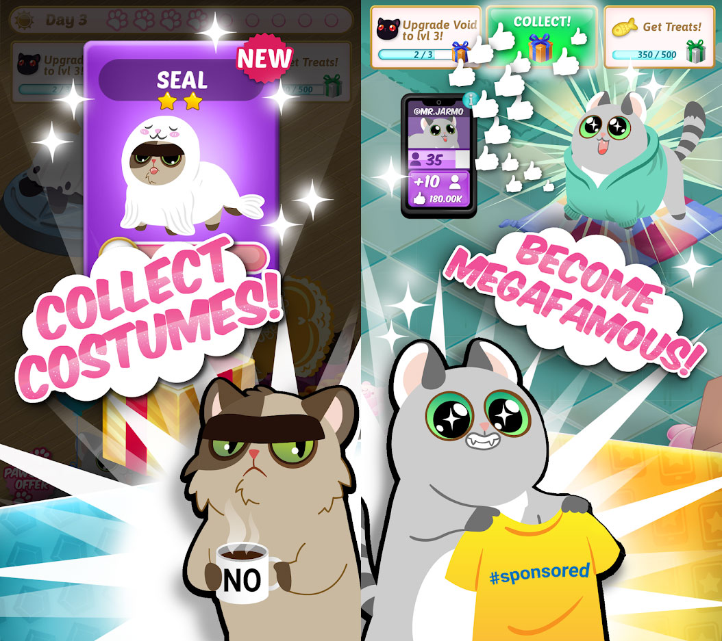 Idle Cat Stars - Collect Costumes Become Megafamous
