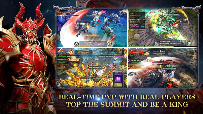 Land of Angel - Real Time PVP With Real Players Top The Summit And Be A King