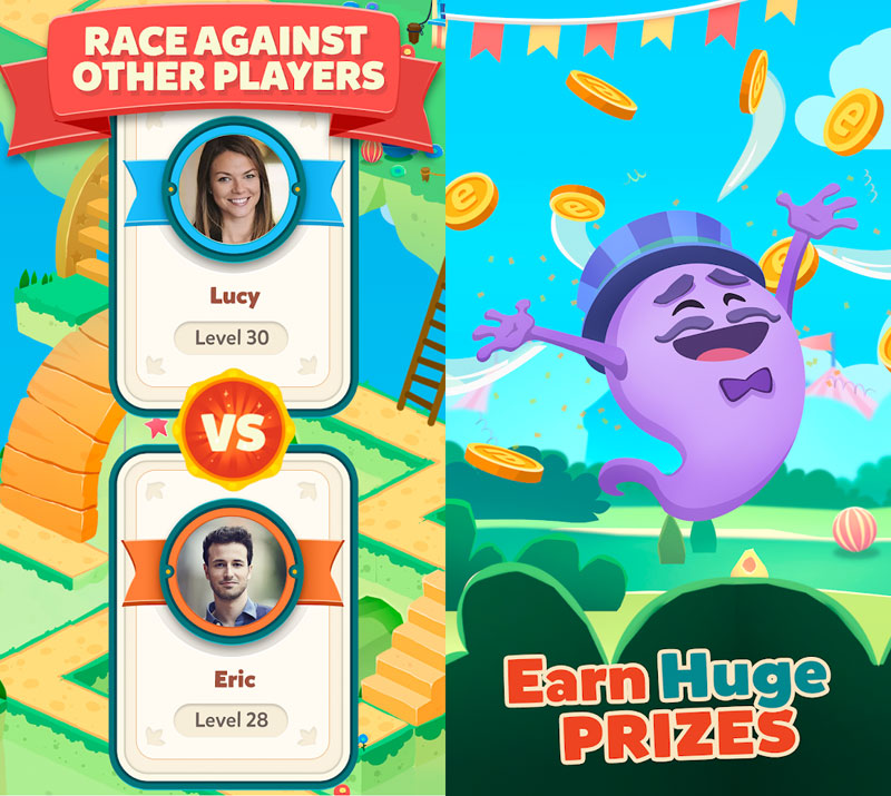Words and Ladders - Race Against Other Players Earh Huge Prizes