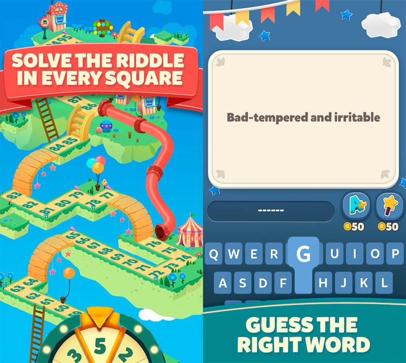 Words and Ladders - Solve The Riddle In Every Square Guess The Right Word