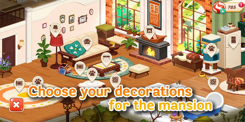 Hellopet House - Choose your decorations for the mansion