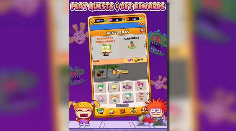Nickelodeon Pixel Town - Play Quests and Get Rewards