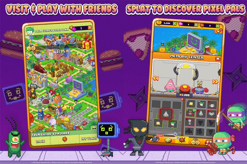 Nickelodeon Pixel Town - Visit and Play With Friends Splat To Discover Pixel Pals