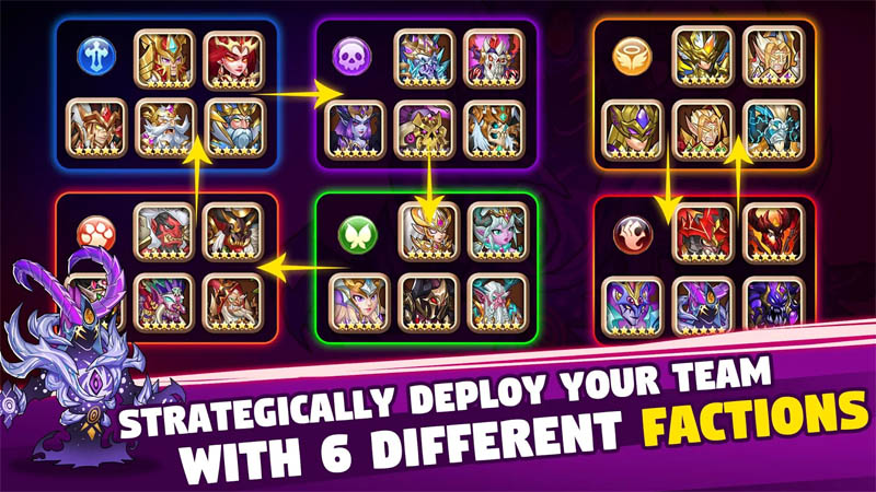 Brave Dungeon - Strategically Deploy Your Team with 6 Different Factions