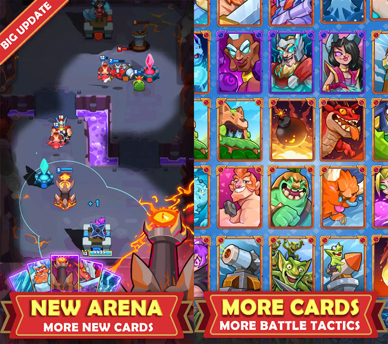 Hero of Empire - New Arena more new cards More battle tactics
