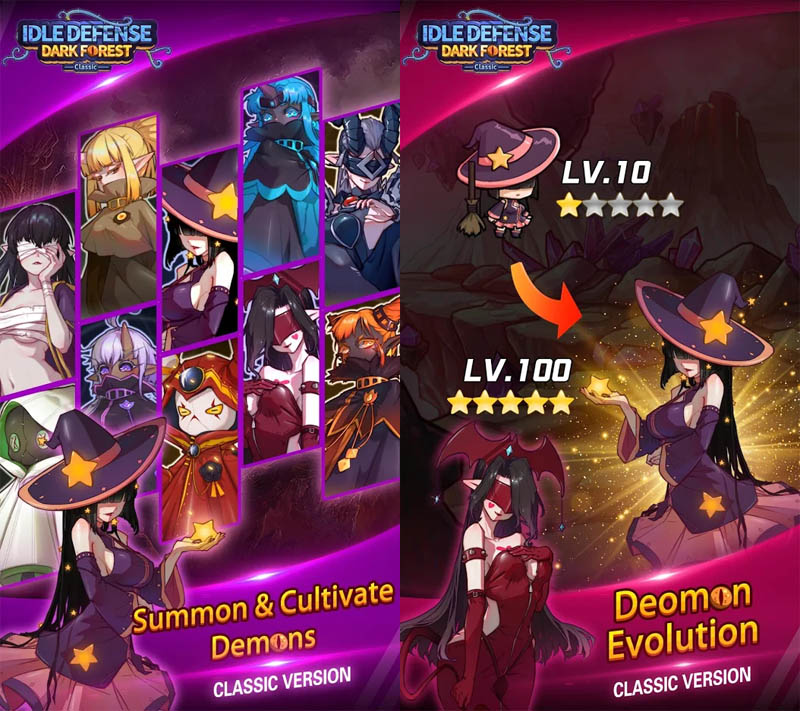 Idle Defense Dark Forest Classic - Summon Setan dan Evolusi Deomon