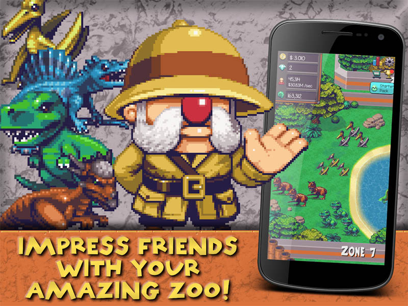 Idle Dino Zoo - Impress Friends With Your Amazing Zoo
