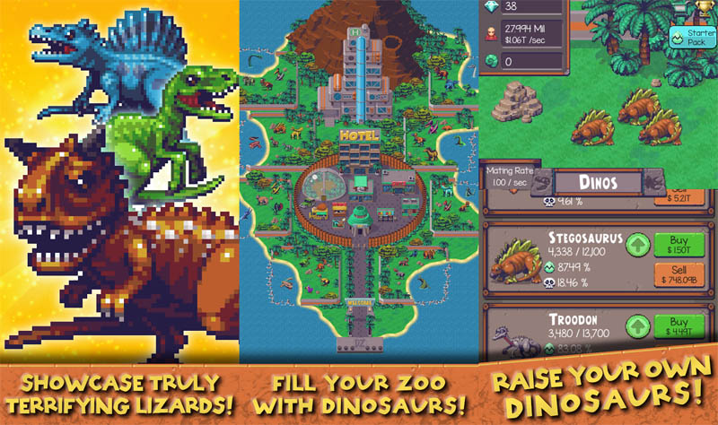 Idle Dino Zoo - Showcase Fill Your Zoo With Dinosaurs Raise Your Own