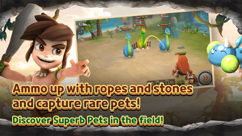 StoneAge World - Ammo up with ropes and stones and capture rare pets