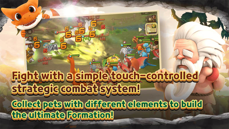 StoneAge World - Fight with a simple touch controlled strategic combat system