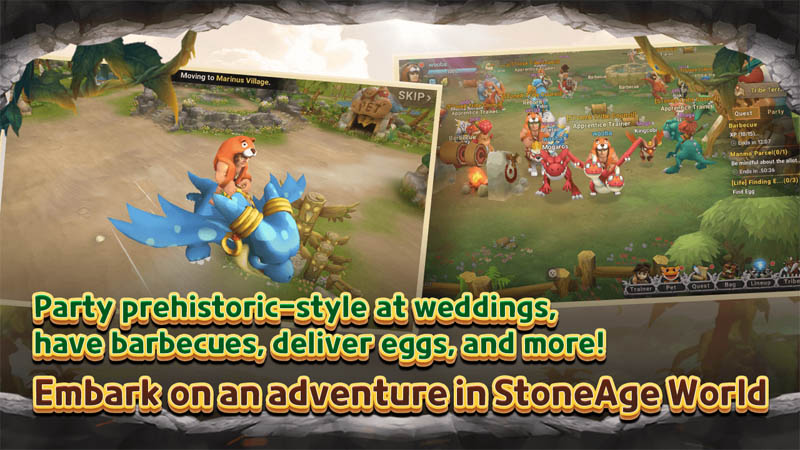 StoneAge World - Party prehistoric style at weddings have barbeques deliver eggs