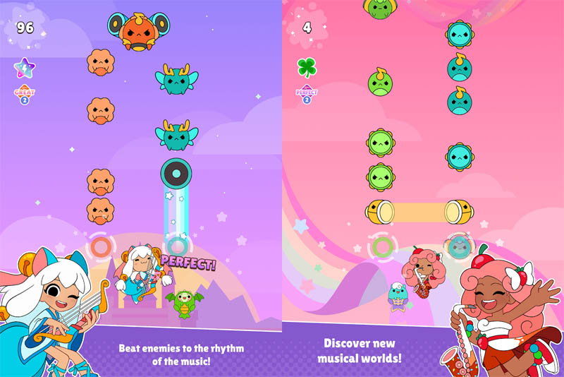 Sweet Sins Superstars - Beat enemies to the rhythm of the music Discover musical worlds