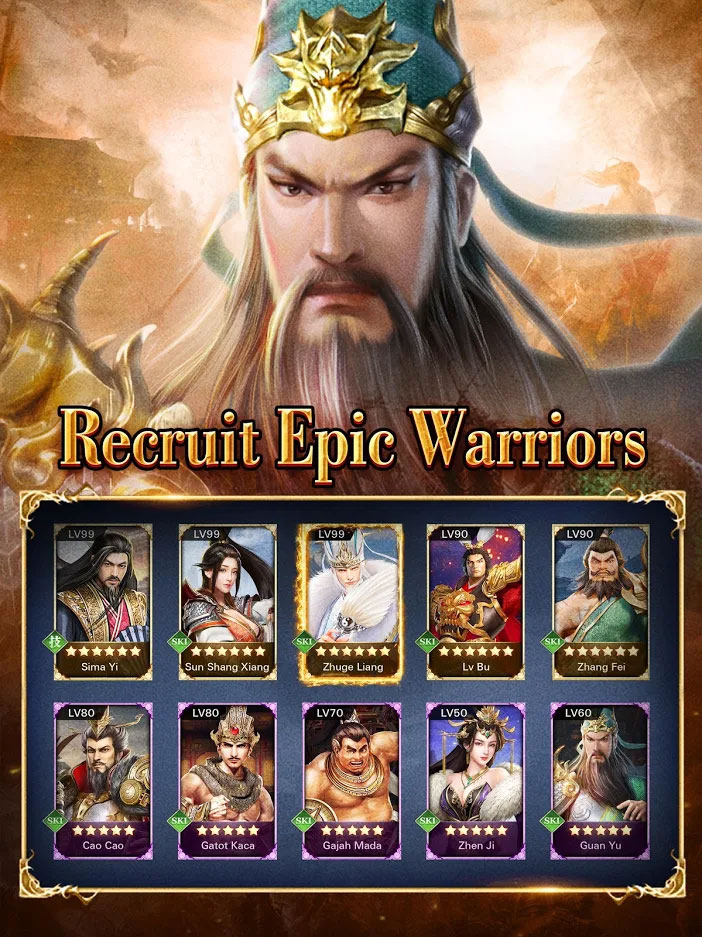 Three Kingdoms King Chaos - Merekrut Epic Warriors