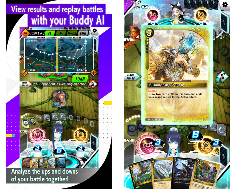 ZENONZARD Artificial Card Intelligence - View results and replay battle with buddy AI