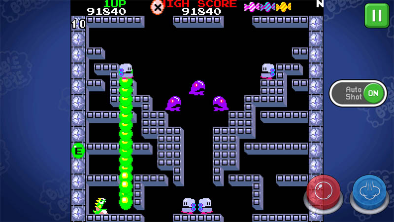 BUBBLE BOBBLE classic - Screenshot 1