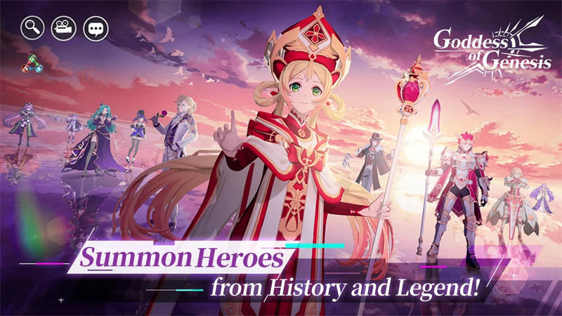 Goddess of Genesis - Summon Hero Dari Sejarah dan Legenda
