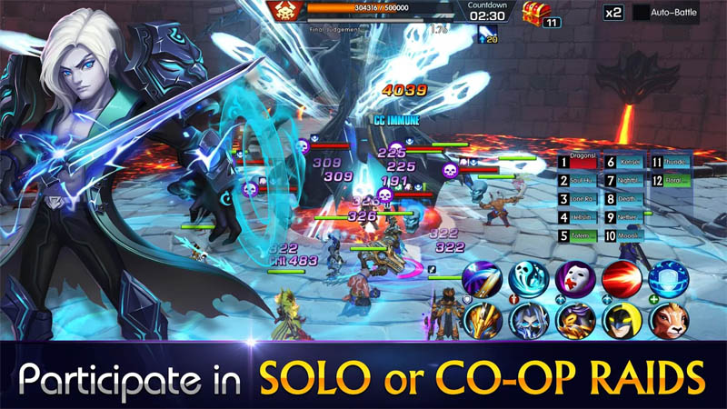 Sins Raid Heroes of Light - Partisipasi dalam SOLO atau CO OP RAIDS