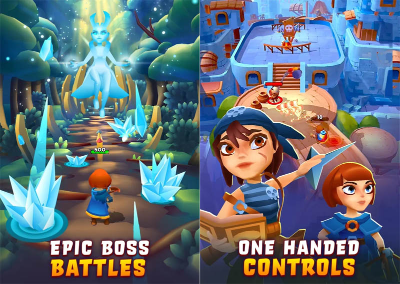 Bow Land - Epic Boss Battles One Handed Controls