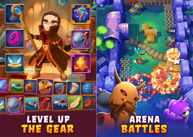 Bow Land - Level Up The Gear Arena Battles