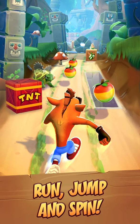 Crash Bandicoot On The Run - Lari Lompat Dan Berputar