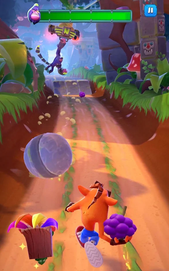 Crash Bandicoot On The Run - Screenshot