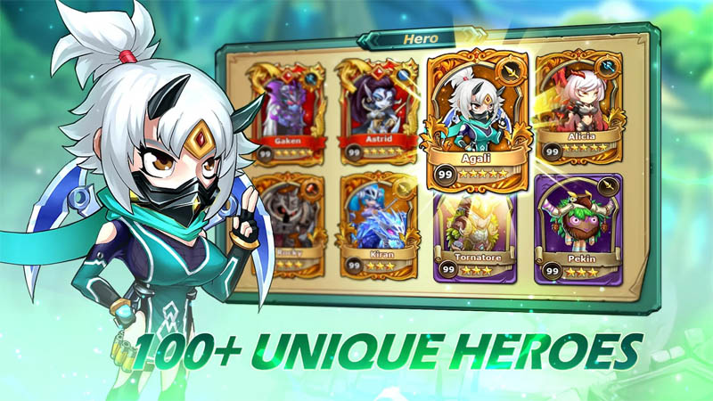 Runelords Arena - 100 Unique Heroes