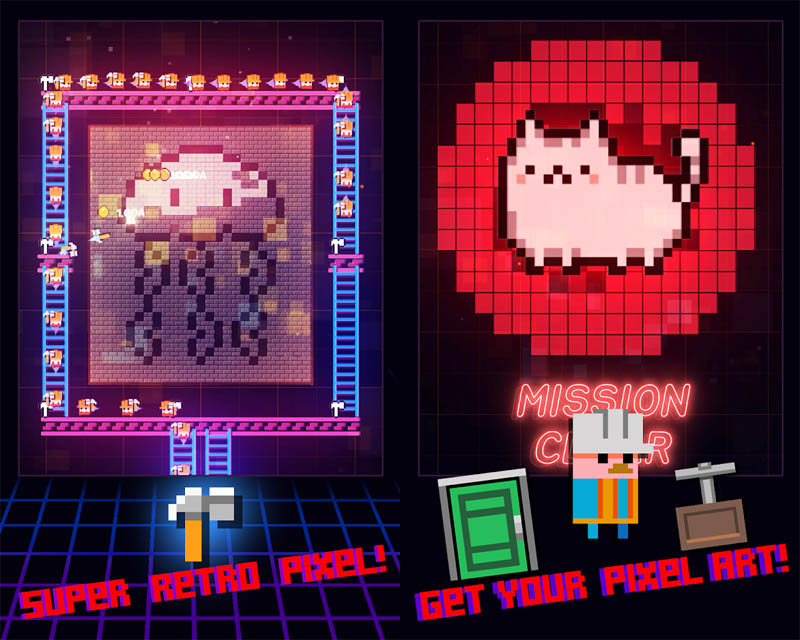 Super Retro World Pixel Art Maker - Super Retro Pixel Dapatkan Pixel Artmu