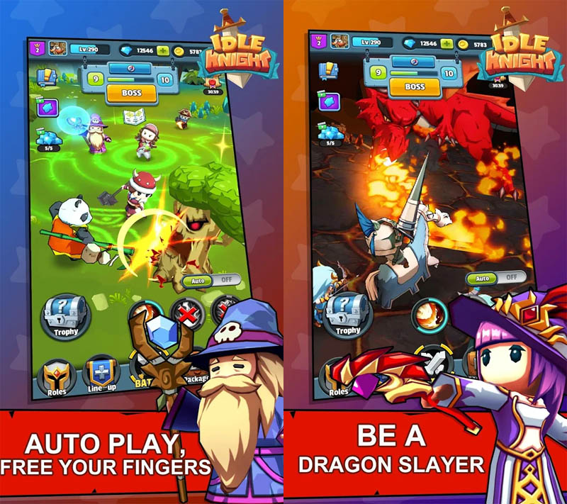 Idle Knight - Auto Play Free Your Fingers Be A Dragon Slayer