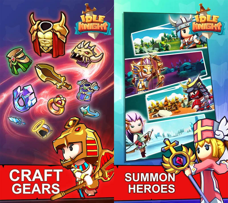 Idle Knight - Craft Gears Summon Heroes
