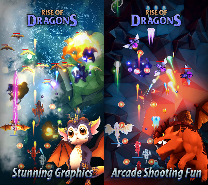 Rise of Dragons - Stunning Graphics Arcade Shooting Fun