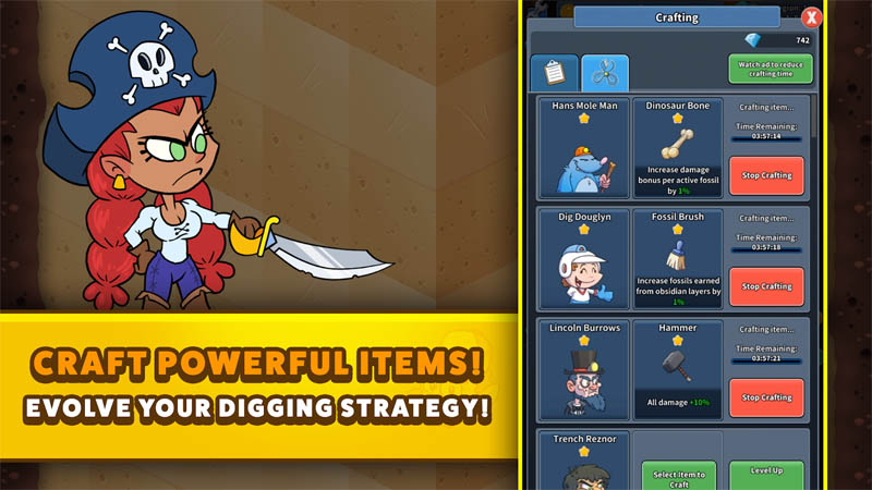 Tap Tap Dig 2 Idle Mine Sim - Craft Powerful Items Evolve Your Digging Strategy