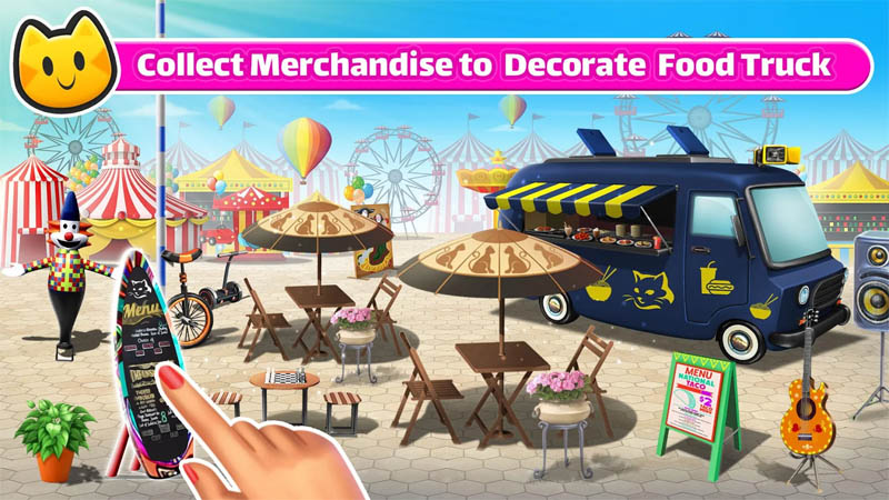 Chef Cat Ava - Collect Merchandise to Decorate Food Truck