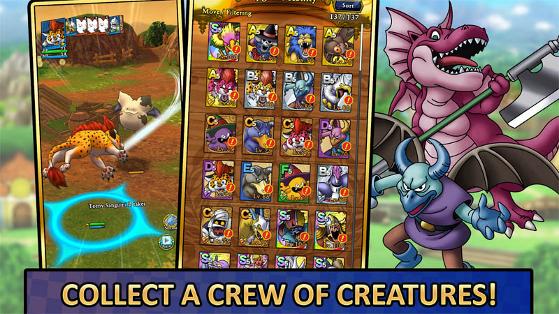 DRAGON QUEST TACT - Collect a crew of Creatures