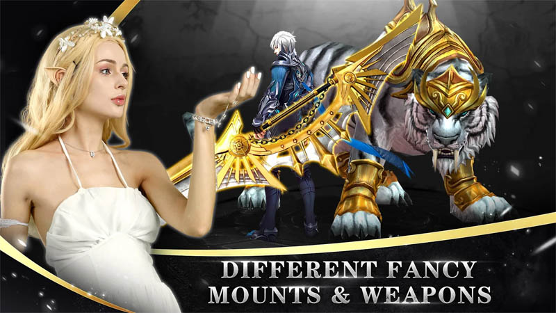Goddess of War - Different Fancy Mounts and Weapons