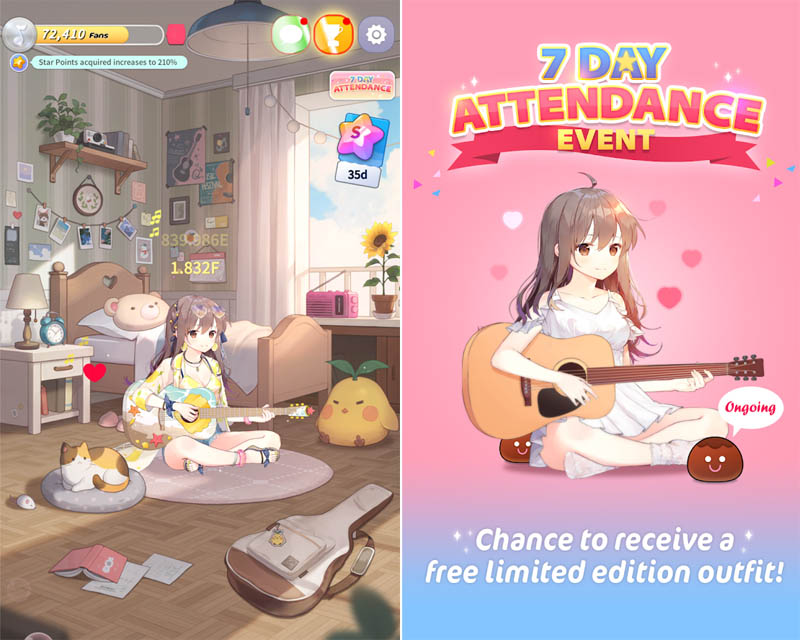 Guitar Girl - Chance to receive free limited outfit