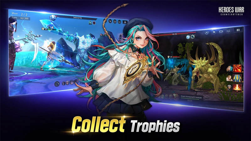 Heroes War Counterattack - Collect Trophies