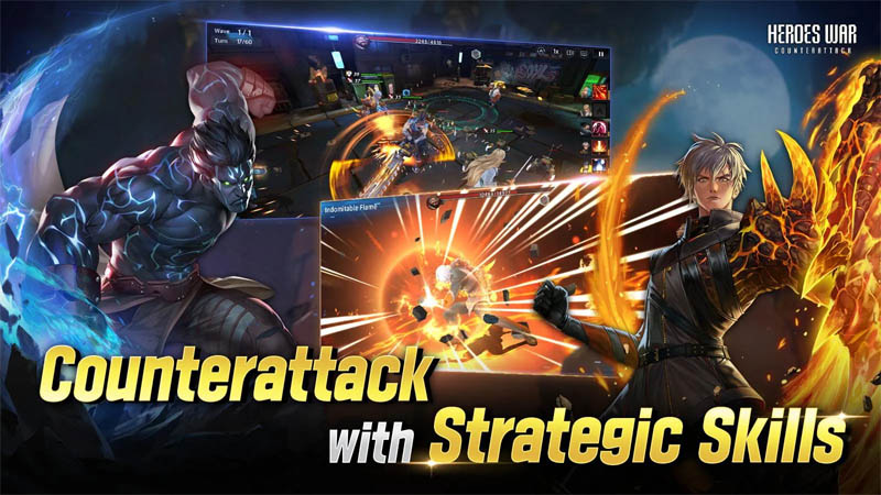 Heroes War Counterattack - Counterattack with Strategic Skills