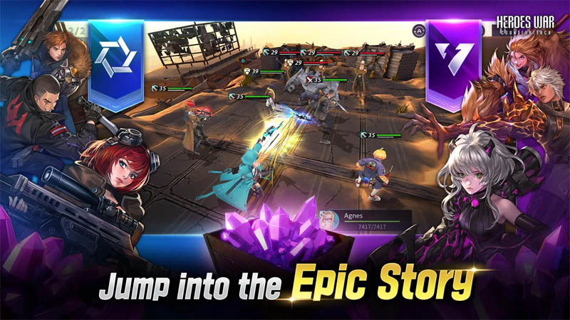 Heroes War Counterattack - Jump into the Epic Story