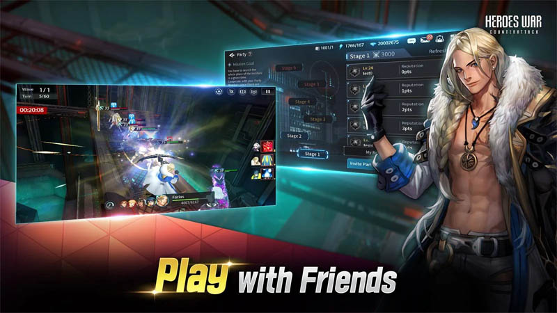 Heroes War Counterattack - Play with Friends