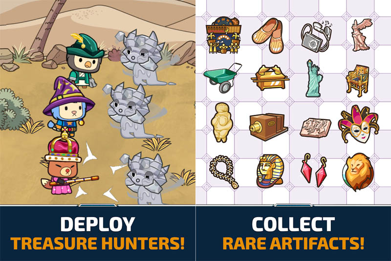 HistoHunters - Deploy Treasure Hunters Collect Rare Artifacts