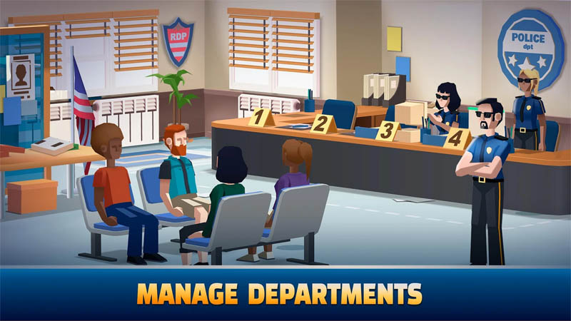 Idle Police Tycoon - Manage Departments