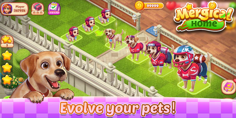 Mergical Home - Evolve your pets