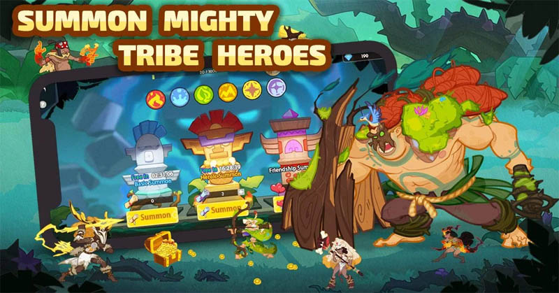 Mystic Tribes - Summon Mighty Tribe Heroes