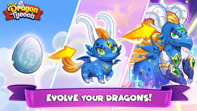 Idle Dragon Tycoon - Evolve your dragons