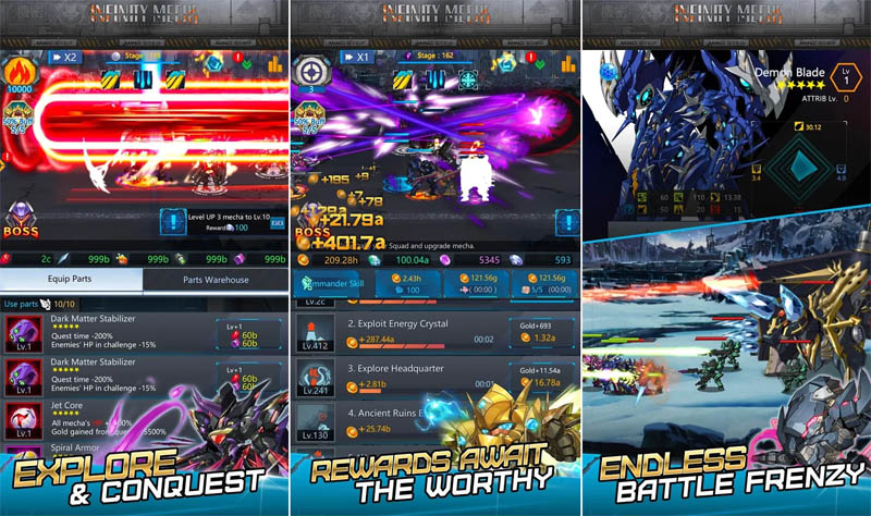 Infinity Mechs - Explore and conquest Rewards await the worthy Endless battle frenzy