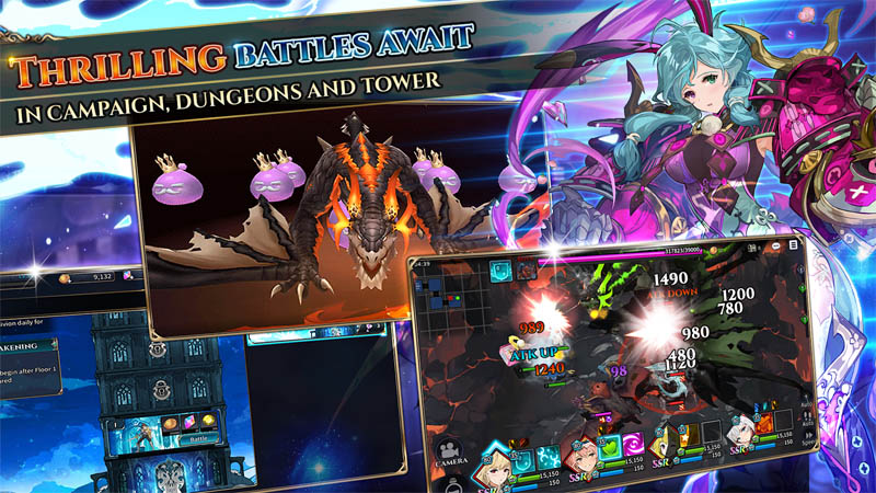 Shining Beyond - Thrilling Battles Await in Campaign Dungeons and Tower
