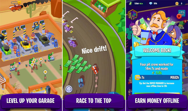 Garage Empire - Level Up Your Garage Race to the Top Earn Money Offline